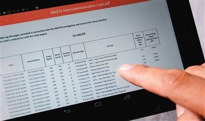 马航公布47页失联飞机卫星通信原始数据