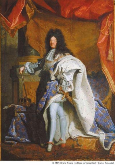 《63岁时着加冕服的路易十四全身像》