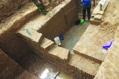 南京幕府东路工地发现古墓 系东晋贵族墓