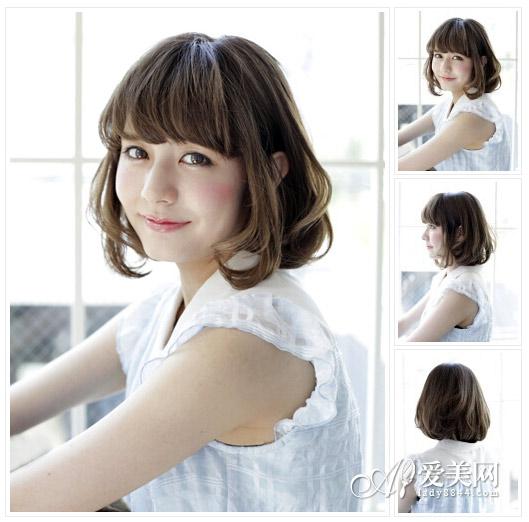 中长发烫发发型图片 复制日系纯美 时尚