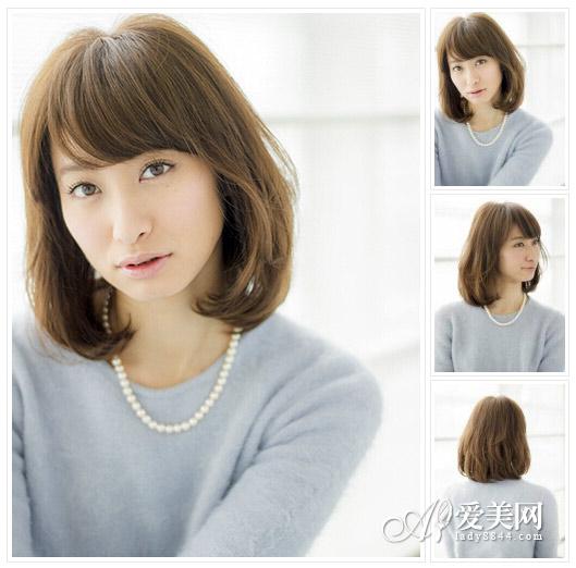 中长发烫发发型图片 复制日系纯美【13】