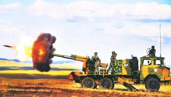 某型122毫米轮式自行火炮-中国新型轮式自行火炮震撼世界