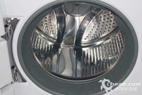 海尔xqgh100-hbf1427w滚筒洗衣机创新弹力筋内筒结构