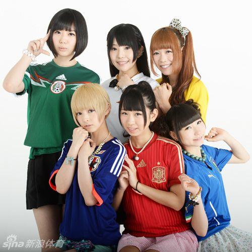 高清:日本足球宝贝助威世界杯
