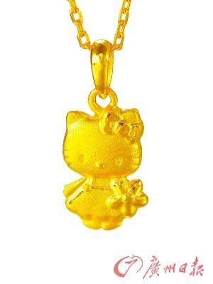 周生生卡通系列千足金项链-黄金饰品 最具投资价值自用品