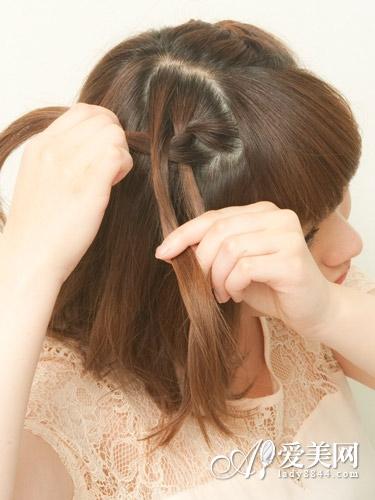 短发侧辫教程图解步骤