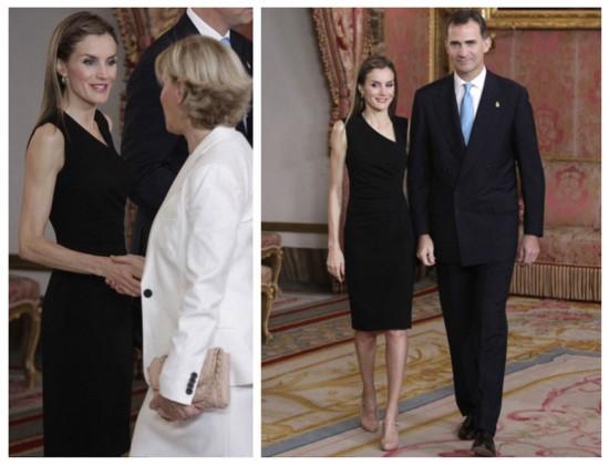 西班牙王妃高雅黑裙露面支持丈夫继位(组图)