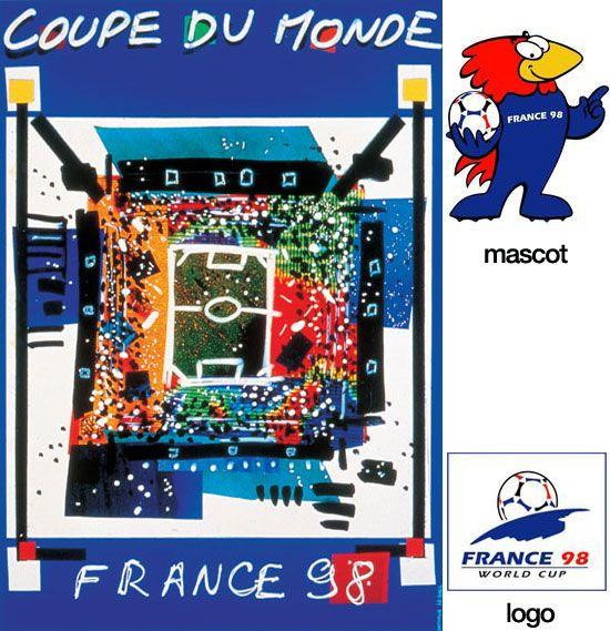 1998年 法国世界杯海报-盘点历届世界杯精彩海报