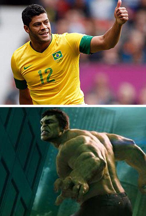 巴西边锋浩克从小就爱看漫画《不可思议的浩克》