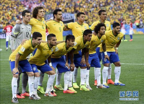 6月12日,巴西队首发阵容.当日,2014年巴西世界杯在圣保罗伊塔盖图片