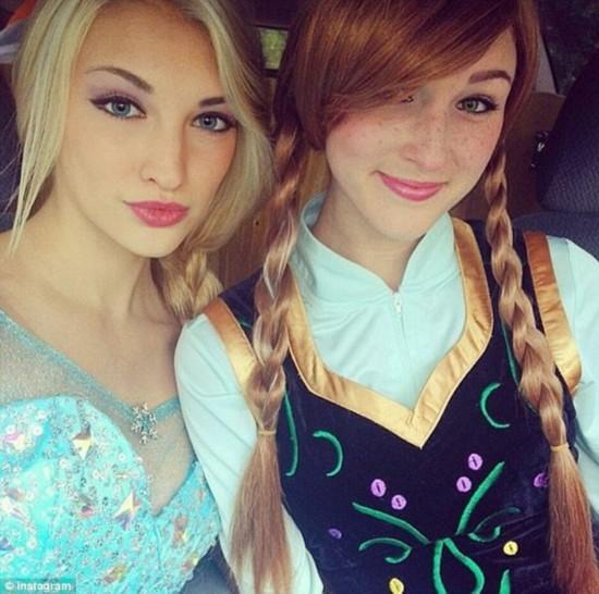 美国女孩酷似迪士尼动画《冰雪女王》 走红网