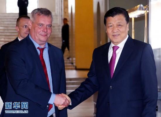 (XHDW)刘云山会见芬兰社民党主席、财政部长林内
