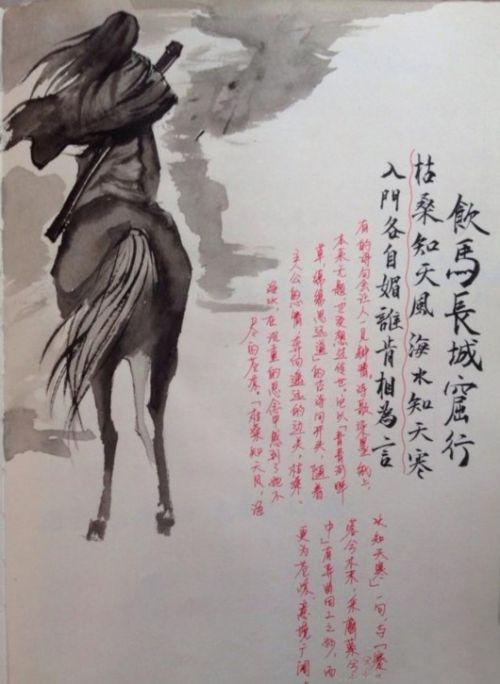 川大才女两月手绘古风读书笔记