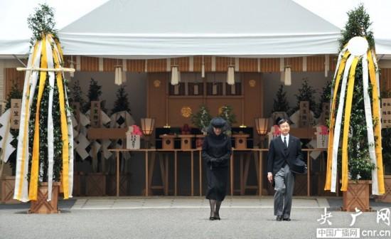 组图:日本桂宫亲王葬礼举行 皇太子夫妇出席