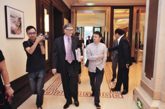 Jack Ma, Gates discuss charity at Beijing dinner