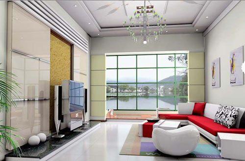 客厅应多使用圆形造型的装饰物