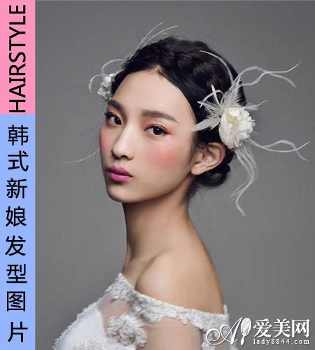 2014韩国女生新娘发型 浪漫婚礼必备