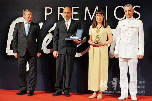 华裔女画家作品荣获西班牙军队绘画大赛金奖