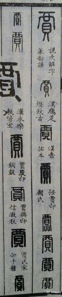 郑朝阳微博中提供的多种『贾』字写法