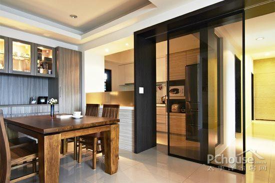 厨房色彩搭配指南  原标题:欧式厨房推拉门效果图     茶镜局部架高的