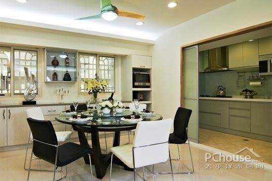 欧式厨房推拉门效果图 让视觉空间扩大一倍【3】