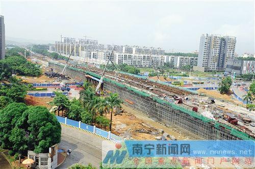 南宁市五象大道两座新立交8月底通车图片