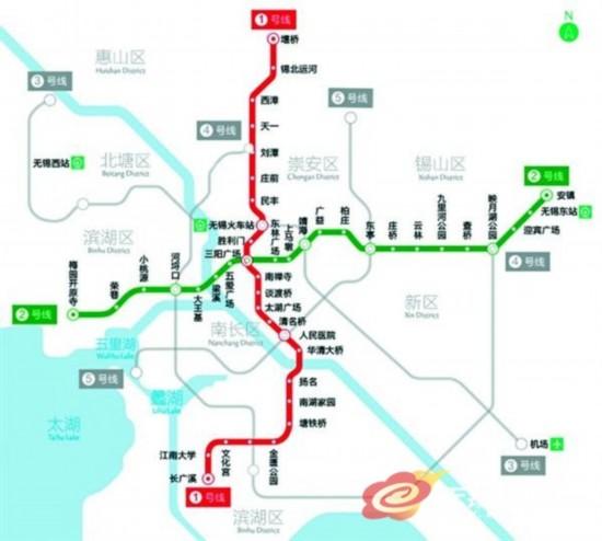 无锡地铁线网规划图