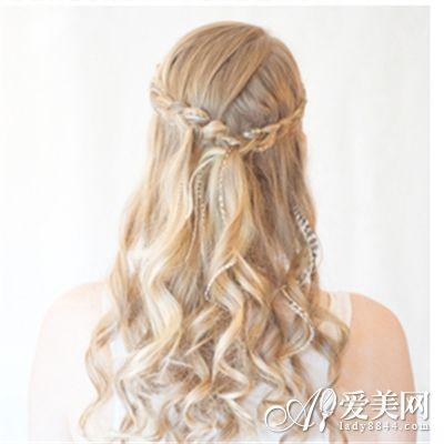 精致发带编发图解打造波西米亚风中发型怎么做水波纹短发图片