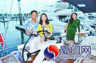 深圳一家三口驾船抵厦 书写我国家庭帆船航海之最