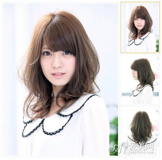 圆脸适合什么发型 中长发修颜显瘦【9】