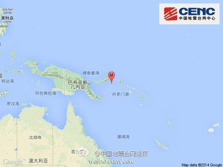 巴布亚新几内亚发生6.4级地震 深度20千米