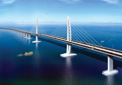 世界最长跨海桥港珠澳大桥钢塔系 扬州造