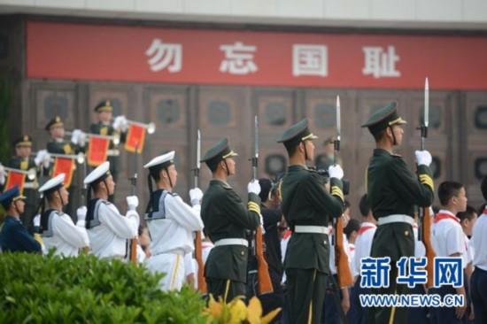 纪念全民族抗战爆发77周年仪式于2014年7月7日在中国人民抗日战争纪念馆举行。图为仪式现场。 新华网 郭小天 摄