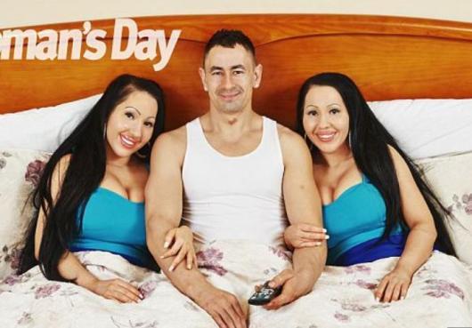 """男子同时约会双胞胎姐妹称享受""""双倍爱""""(图)"""