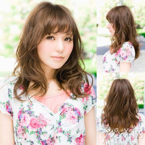 日系中长发发型图片 慵懒卷发最流行【13】
