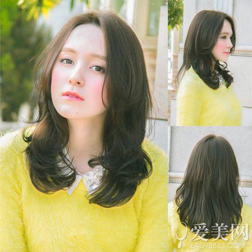 日系中长发发型图片 慵懒卷发最流行【9】