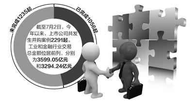 前(qian)半年上(shang)市公司並(bing)購2200多起 並(bing)購重組也是雙(shuang)刃劍--財經(jing)--