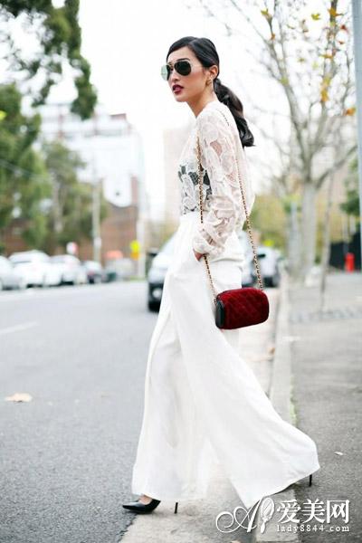 一招成仙 白色镂空针织衫实搭又防晒