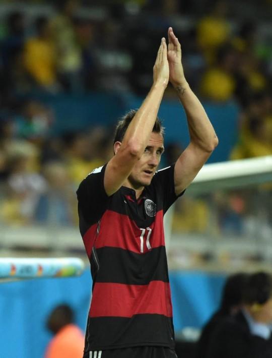 德国7-1巴西进决赛 克洛泽成世界杯最佳射手(图