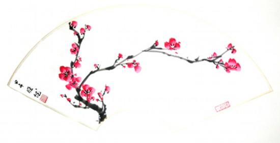 梅花   每个想立足画坛的苦心人须足下能行万里之路,胸中当具千古之思,笔下才能呈现出纵横之势。   大道不繁,至道必简。崔晓然崇尚自然,妙悟画道。在《瘦竹疏梅》中,她用阔笔画出梅花瘦壮的气势,用散锋密点画出瘦竹的枝叶,在疏与瘦,浓与淡,红和黑的的对比中,看似勾画了了,实则匠心独运,创造出让人神往的淡泊、宁静、超逸的意境。在晓然的画中,花中四君子总是恰到好处地彰显出奇内在的神韵,充满着劲拔和清爽的气息,充满着宁静和纯净,如同诗一样唯美、幽深,冲击着观者的视觉,震撼着观者的心灵,使人心欢悦。笔耕墨种,特立独