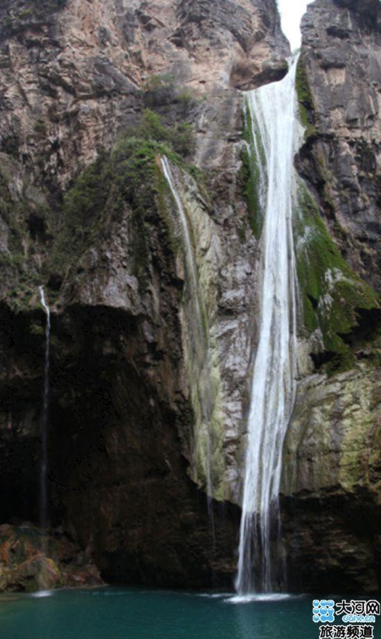 河南 新乡宝泉 风景区 十大最美 瀑布 人民高清图片
