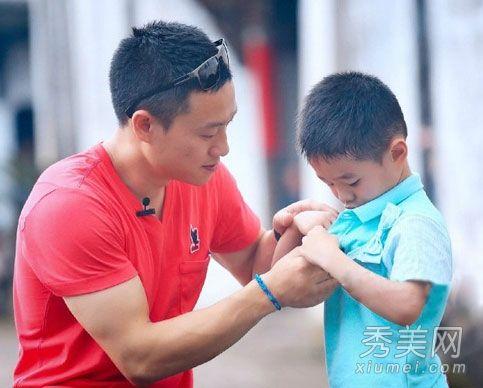 《爸爸去哪儿》第二季-杨威 在没有了发胶等造型产品的农村,杨阳洋