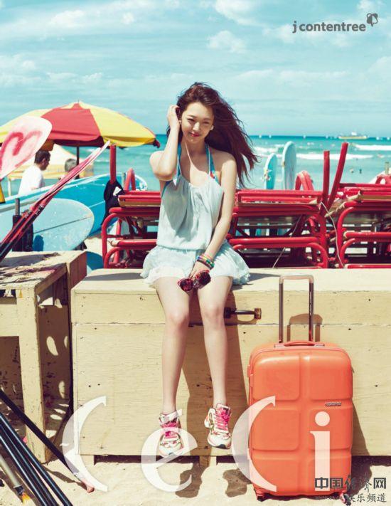fx雪莉拍写真展夏季时尚阳光甜美 河南分网