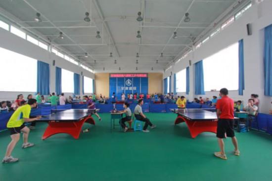甘肃建投举办乒乓球v企业活跃企业文化氛围高尔夫球卡通报图片