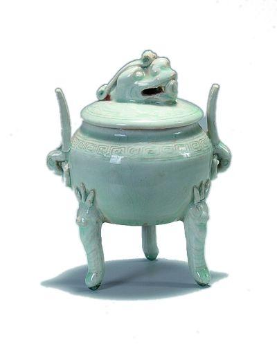 元代青白釉瓷熏炉