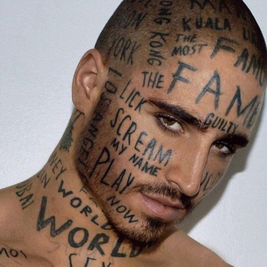 来自蒙特利尔的维恩把纹身艺术提升到了一个新的高度,他的脸,脖子和