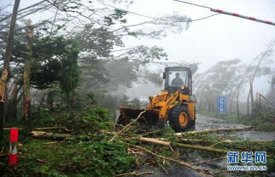 超强台风 威马逊 登陆海南 最大风力17级