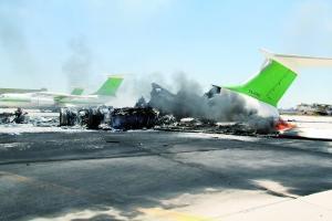 利比亚机场被炸航空瘫痪 500名中国公民滞留