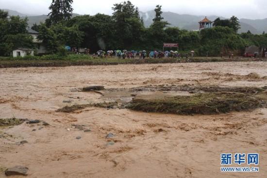 是7月21日在云南德宏芒海镇拍摄的灾害现场. 记者从云南省德宏傣图片