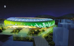 漳州体育场软件红衣节日博弈夜景穿照明确定围棋方案图片
